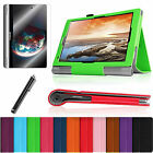 "For Lenovo Yoga 10 & Yoga 10 HD+ 10.1"" Leather Stand Case Cover + Film + Stylus"