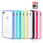 PC Hard Soft Gel Cover Case for Apple iPhone 4 4S 4G Silicone Frame Bumper