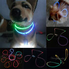 Ajustable LED luz Collar Iluminado Perro Gato Mascota Collars Pet Cat Dog Color