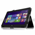 For Dell Venue 11 Pro (Windows 8.1) Tablet Leather Bluetooth Keyboard Case Cover