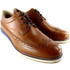 Mens Hush Puppies Scene Longwing Leather Flat Lace Up Smart Casual Shoes UK 7-12