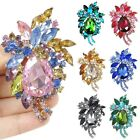 Flower Teardrop Pin Brooch Multi choose Austrian Crystal Floral Wholesale E340
