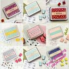 Korean Lovely Tin Box DIY Wood Stamps Set- fairy/ballerina