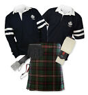 8yd Kilt Outfit 'Sports Premium' - 2-Stripe Rugby Top - Scottish National