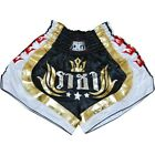 BLACK DUO RAJA SHORTS TRUNKS FOR MUAY THAI SPORTS TRAINING