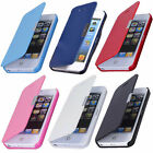 Magnetic Flip Leather Hard Skin Pouch Slim Case Cover For Apple iPhone 5 5S 5G