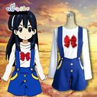 Tamako Market School Uniform Cosplay Costume T-shirt & short Machine Washable