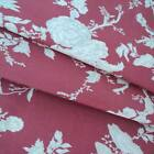 SATAYA RED / BIEGE - MAS D'OUSVAN FRENCH TOILE 100%  COTTON FABRIC