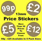 13mm Gold Point Of Sale Retail Price Stickers Sticky Labels