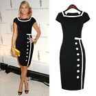 New Womens Celeb Ladies Bodycon Business Party Cocktail Pencil Dresses Size 8-16