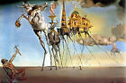 The Temptation of St Anthony Dali Salvador POSTER FRAMED ON CANVAS & MOUNTED