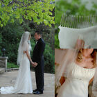 Free Shipping Two Layers White/Ivory Crystal Metallic Comb Bridal Wedding Veil