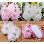 HOT Infant Newborn Baby Girls Princess Non-Slip Lace Flower Shoes Toddler