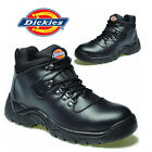 MENS DICKIES SAFETY BOOTS WORK HIKER STEEL TOE CAP LEATHER ANKLE HIGH TRAINERS