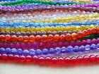 Crackle glass beads TWO sizes -  4mm and 10mm  (B)