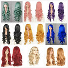 "Fashion Style 80CM 32"" Lady Long Curly Lady Girl Anime Cosplay Hair Wig + Caps"