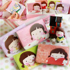 4 colors ▶ cute Korean Girl ◀ 12Slots ♦ Credit ID Card Holder Book Case Bag Pock