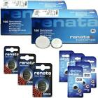 2 x Renata Wrist Watch Battery - Swiss Made - All Sizes - Silver Oxide Batteries