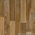 Warm Oak Style Wood Vinyl Flooring, Slip Resistant Lino, 3m & 4m Cushion Floor