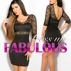 NEW SEXY 6-8 S WOMEN'S LACE DRESS STYLISH FORMAL PARTY EVENING GOING OUT WEAR