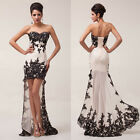 Charming Women Lace Ball Gown Formal Evening Party Cocktail Bridesmaid Dresses