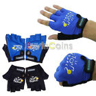 Mens Outdoor Sport Bike Cycling Bicycle Half Finger Gloves Blue Black BAAU