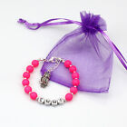pink Girls/Ladies Any Name Birthday Charm Personalised Bracelets Gift With Owl