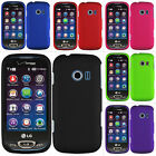 For LG Extravert 2 VN280 Rubberized Hard Matte Case Snap On Cover Accessory