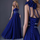 Long Chiffon Maxi Gowns Formal Evening Party Homecoming Bridesmaid Prom Dress F8
