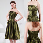Pleated Sequined Formal Prom Dress Party Evening Ball Gown Graduation Cocktail