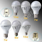 E27 ES B22 BC 7W 9W 15W LED SMD Energy Saving Ball Light Lamp Globe Bulb 220V