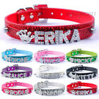 Customized Rhinestones Letter Name Personalized PU Leather Cat Dog Collars