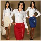 Pencil Skirt With Zipper In Different Colors Size 6 8 10 12 M16