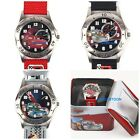NEW DISNEY THE CARS MCQUEEN&FRIENDS LEATHER STRIPECHILD WATCH W/ TURN DIAL