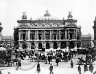 1890 PARIS FRANCE OPERA HOUSE PHOTOGRAPH Vintage Street Scene