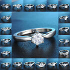 Big Discount 18K White Gold Filled Ring White Sapphire Wedding Jewelry Size 7,8