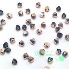 Crystal Rose Gold (001 ROGL) Swarovski Elements 5328 / 5301 3mm Bicone Beads