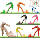 Womens Shoes Girls Open Toe Bridal Patent High Heels Shoes Pumps Sandals NEW