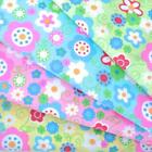 ITCHYCOO PARK - FUNKY FLORAL GINGHAM POLY COTTON FABRIC pink blue green yellow
