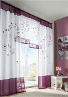 1pcs 4 Sizes 3 Colors Handmade Embroider Polyester Home Garden Window Curtain ZH