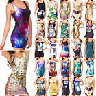 Sexy Women Fashion Space Galaxy Top The Hobbit Middle Earth Map Mini Tank Dress