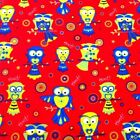 Hoot Owls Abstract Circles Wincyette Flannel 100% Cotton Fabric