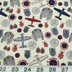 Maverick Patches Fighter Pilots Army Red 100% Cotton Fabric