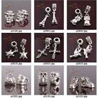 p003m29 2pc Silver Plated Metal Animal Dangle Spacer Beads Fit European Bracelet