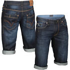 Mish Mash 2187 Alabama Mid Mens New Denim Casual Turn Up Shorts Sizes 28-42