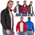 New Mens Classic Vintage Retro 1970 MOD Harrington Bomber Jacket Size M L XL XXL