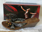 ladies Slip on, Mule,  Sandals, Faux Snake skin & Beads,size 3 to 8 Narrow Fit