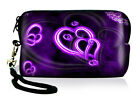Hearts Neoprene Case Bag Coin Purse For Digital Camera Phone IPOD Touch Iphone 5
