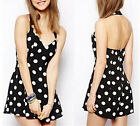 Fashion Women Sexy Polka Dot Dress Casual Evening Cocktail Girl Party Mini Dress