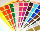 20 x 30mm Rectangle Colour Code ID Dots Blank Price Stickers Sticky Labels